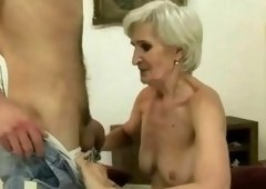 Boy banging sex appeal granny real hard