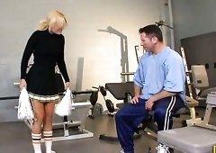 Blond Cheerleader Teen Nailed With Cum On Her Ass!