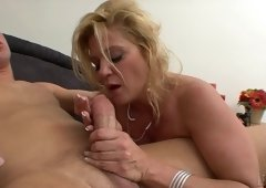 A bit plump golden-haired hooker Ginger Lynn is pounded from behind