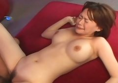 Scorching Japanese hottie Rina Wakamiya is shagged by a pair of dicks