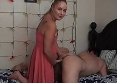 Dilettante Wife assfucks her husband