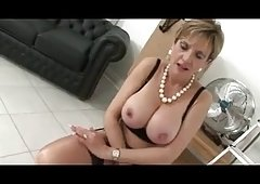 Eager Mom Puts On Lingerie And Plus Slowly Toys Clit Into Ecstasy