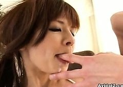 Rin Yuuki double blowjob with unfathomable throat