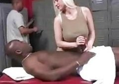 Devon Lee on a darksome masseur