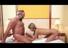 Grandpa Ben pounding horny immature slut