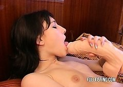 Gagging  And Additionally Facial Cumshot For Cute Little Emo Slut
