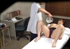 Pink Slit pleasing with vibrator in asiatic scene