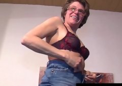 Old german woman masturbating
