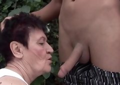 Ravishing have an intercourse for a lusty granny