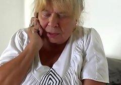 OldNanny Grown-up lesbos grandma masturbating pussy