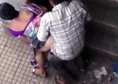 Voyeur films a sexy Indian wife getting pounded doggystyle